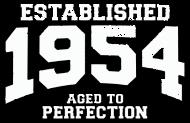 Jahrgang 1950 Geburtstagsshirt: established 1954 - aged to perfection
