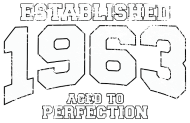 Jahrgang 1960 Geburtstagsshirt: established 1963 - aged to perfection