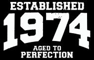 Jahrgang 1970 Geburtstagsshirt: established 1974 - aged to perfection