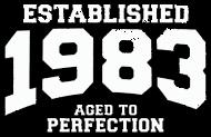 Jahrgang 1980 Geburtstagsshirt: established 1983 - aged to perfection