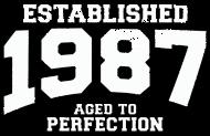 Jahrgang 1980 Geburtstagsshirt: established 1987 - aged to perfection