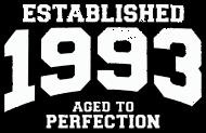 Jahrgang 1990 Geburtstagsshirt: established 1993 - aged to perfection