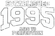 Jahrgang 1990 Geburtstagsshirt: established 1995 - aged to perfection