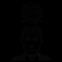 Lustiges Tshirt - Mann in Anzug trägt Ananas Krone