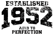 Jahrgang 1950 Geburtstagsshirt: established 1952 - aged to perfection