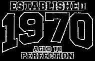 Jahrgang 1970 Geburtstagsshirt: established 1970 - aged to perfection