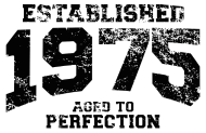 Jahrgang 1970 Geburtstagsshirt: established 1975 - aged to perfection