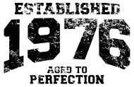 Jahrgang 1970 Geburtstagsshirt: established 1976 - aged to perfection