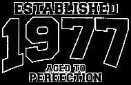 Jahrgang 1970 Geburtstagsshirt: established 1977 - aged to perfection