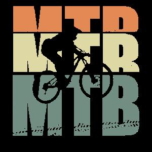 Retro MTB Logo und Silhouette