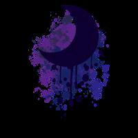 Farbklecks Mond