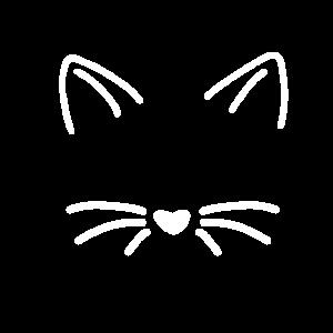 Katzengesicht Cat Katze Süß Schnurren Haare Ohren