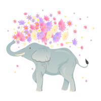 Elefant Lotus Blumen