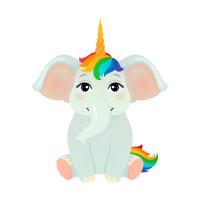 Elefant Einhorn