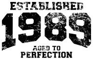 Jahrgang 1980 Geburtstagsshirt: established 1989 - aged to perfection