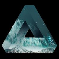Penrose Dreieck Optische Täuschung Meer und Natur