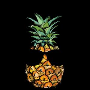 Hipster Ananas mit Sonnenbrille - Lustiges Design
