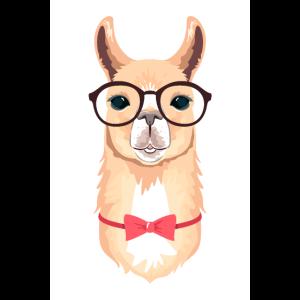 Alpaka Hipster Vektor Illustration