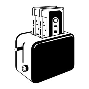 Retro Kassetten Toaster
