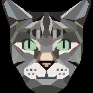 Katze kubistisch