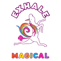 Yoga Exhale - Keep Being Magical Einhorn