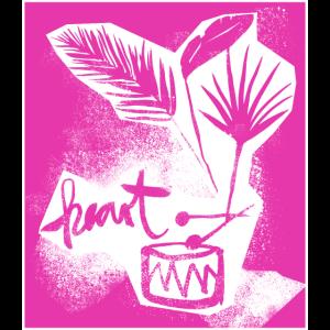 jungle drum scherenschnitt pink
