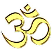 OM (AUM - I AM) - Sacred Symbol, gold, manifestation of spiritual strength, The energy symbol gives balance, peace and bliss