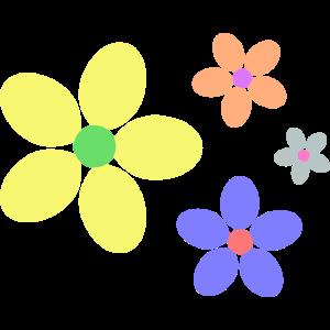 bunte Blumen Hippie retro