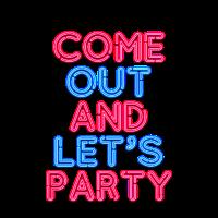 Neon Party Club - 80s Retro Neonschrift