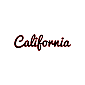 California Schriftzug