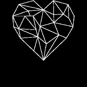 grafisches Herz weiß