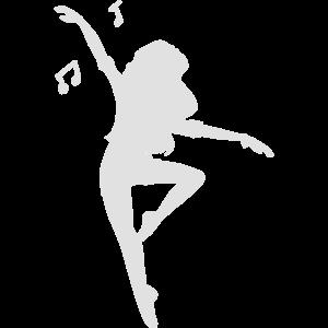 silhouette women dance 1 white