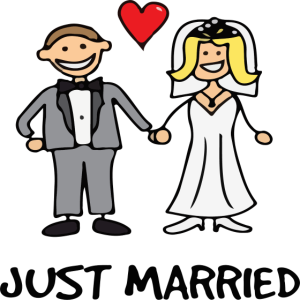 Frisch Verheiratet - Ehepaar, Hochzeitsgeschenk