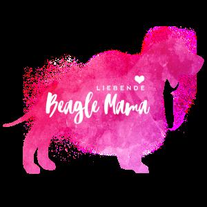 Liebende Beagle Mama