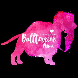 Liebende Bullterrier Mama