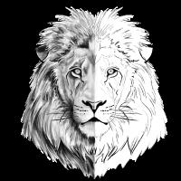 Ein interessanter gezeichneter Löwe