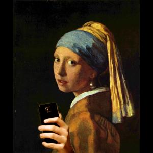 Vermeer Mädchen mit Perlenohrring und Smartphone
