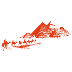 Pyramiden in rot