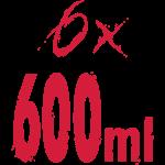 6x600ml