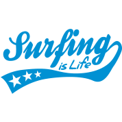surfing is life - retro