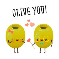 Olive You! - Oliven Liebespaar