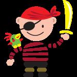 Petit pirate avec le perroquet