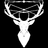 Hirsch Camping Jäger Naturfreund T-Shirt Geschenk