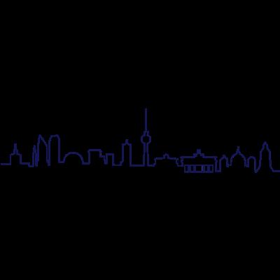 Skyline Berlin Linie - Berliner Skyline als Linienkontur - stadt,skyline,reichstag,linie,gebäude,fernsehturm,fanmeile,deutschland,city,berliner,berlin,architektur,Wahrzeichen,Spree,Silhouette,Sehenswürdigkeiten,Sehenswürdigkeit,Rathaus,Marathon,Kontur,Hauptstadt,Denkmal,Brandenburger Tor,Bekannt
