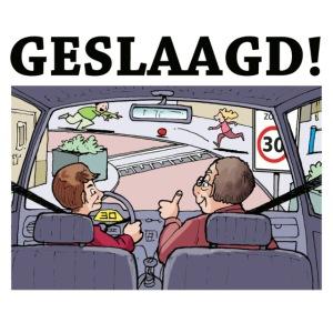 Geslaagd rijden