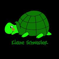 Kleine Schwester Liebevolles Motiv Schildkröte