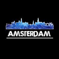 Amsterdam Skyline blau