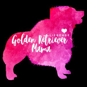 Liebende Golden Retriever Mama
