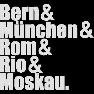 Weltmeister Geschenk -Bern München Rom Rio Moskau