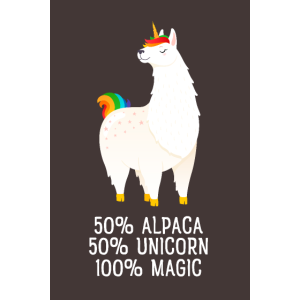 50% Alpaca, 50% Unicorn, 100% Magic